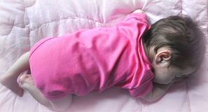 Sleeping Baby. A Sleeping baby laying on her stomach Stock Photography