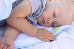 Sleeping baby Royalty Free Stock Image