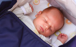 Sleeping baby Stock Photography