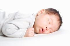 Sleeping baby. A baby girl is sleeping Stock Image