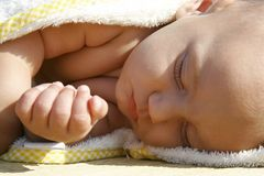 Sleeping baby. Portrait of a sleeping baby Royalty Free Stock Image