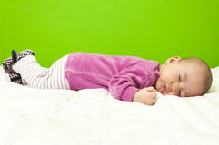 Sleeping baby Stock Photos