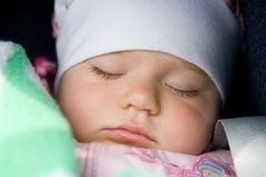 A sleeping baby Stock Photos