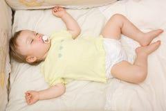 Sleeping baby. Sweet toddler baby girl sleeping Royalty Free Stock Photo