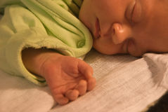 Sleeping baby. Sleeping newborn cute baby girl Stock Photography
