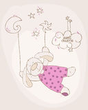 Sleeping Baby Bear Cute Card Stock Photos