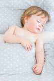 Sleeping baby boy royalty free stock image