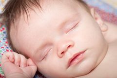 Sleeping baby boy Royalty Free Stock Photo