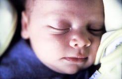 Sleeping baby boy royalty free stock photography
