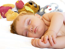 Sleeping baby-boy Royalty Free Stock Photography