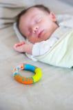 Sleeping baby boy Stock Images