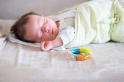 Sleeping baby boy Stock Image