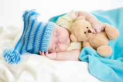 Sleeping baby boy Royalty Free Stock Photos