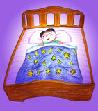 Sleeping baby cartoon illustration Royalty Free Stock Photo