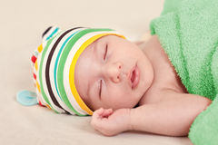A sleeping baby Royalty Free Stock Image