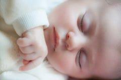 close up the sleeping baby Stock Photos