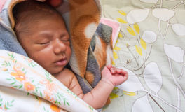 Sleeping baby with copyspace Royalty Free Stock Photo