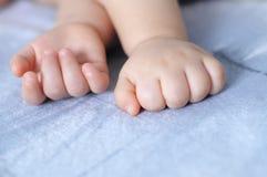 Sleeping baby finger Royalty Free Stock Image