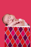 Sleeping baby gift Stock Photo