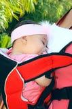 Sleeping baby girl royalty free stock photo