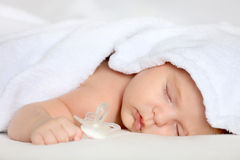 Sleeping baby girl Royalty Free Stock Photo