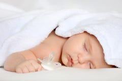 Sleeping baby girl. Image of sleeping baby girl Royalty Free Stock Photo