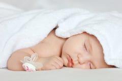 Sleeping baby girl. Image of sleeping baby girl Royalty Free Stock Image