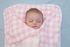 Sleeping Baby Girl royalty free stock photography