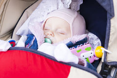 Sleeping baby girl Stock Photo