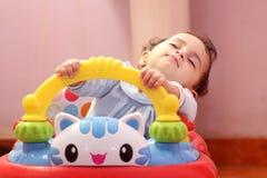 Sleeping baby girl Stock Images