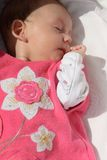 Sleeping baby girl Stock Photography