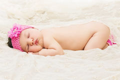 Sleeping baby girl Royalty Free Stock Photos