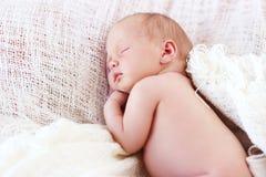 Sleeping baby girl Stock Photos
