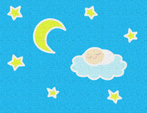 Sleeping Baby in the Night_Texture Royalty Free Stock Photos