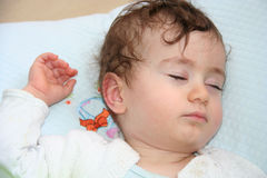 Sleeping baby portrait Stock Photo