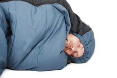 Sleeping bag stock image