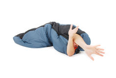 Sleeping bag royalty free stock image