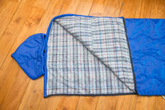 Sleeping bag for camping, Equipment Stock Images