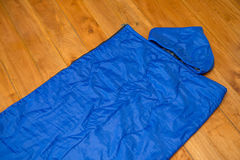 Sleeping bag for camping, Equipment Royalty Free Stock Image