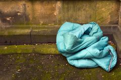 Sleeping Bag, Home of the Homeless Stock Image