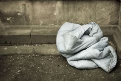Sleeping Bag, Home of The Homeless Stock Photos