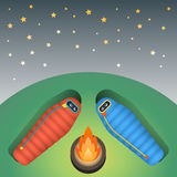 Sleeping bag illustration Royalty Free Stock Images