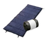 Sleeping bag isolated on a white back ground Stock Photography