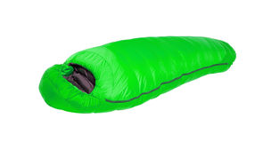 Sleeping Bag isolated on a white Stock Images