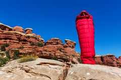 Sleeping bag Stock Photo
