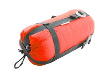 Sleeping bag packed Stock Image