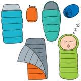 Sleeping bag Royalty Free Stock Images