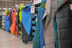 Camping Beds Display In A Store. Editorial Image