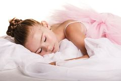 Sleeping ballerina Stock Photos