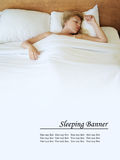 Sleeping banner Stock Images